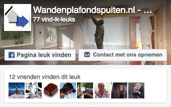 bezoek wandenplafondspuiten.nl op facebook
