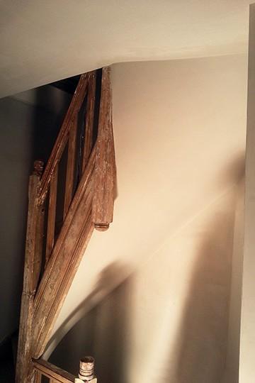 trap na renovatie van stuclaag