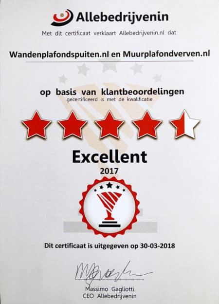 certificaat WandenPlafondSpuiten.nl 2017