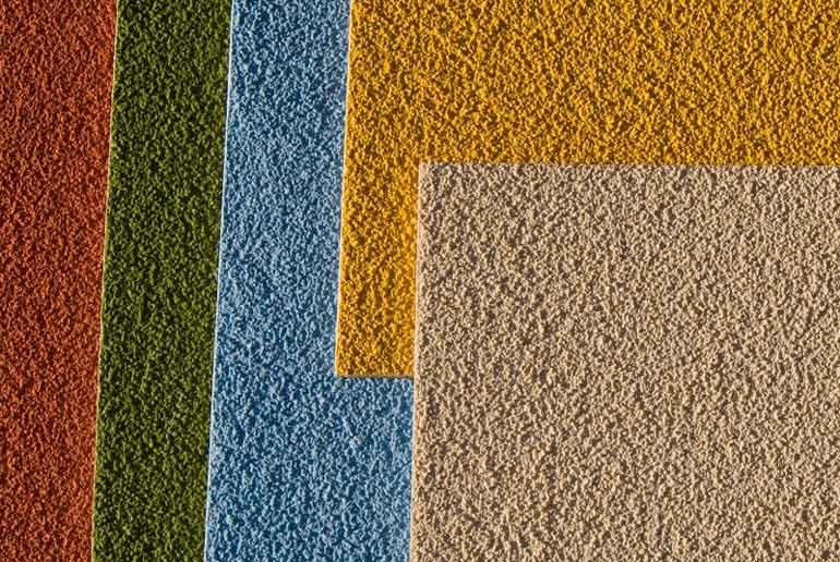 Spachtelputz in verschillende kleuren