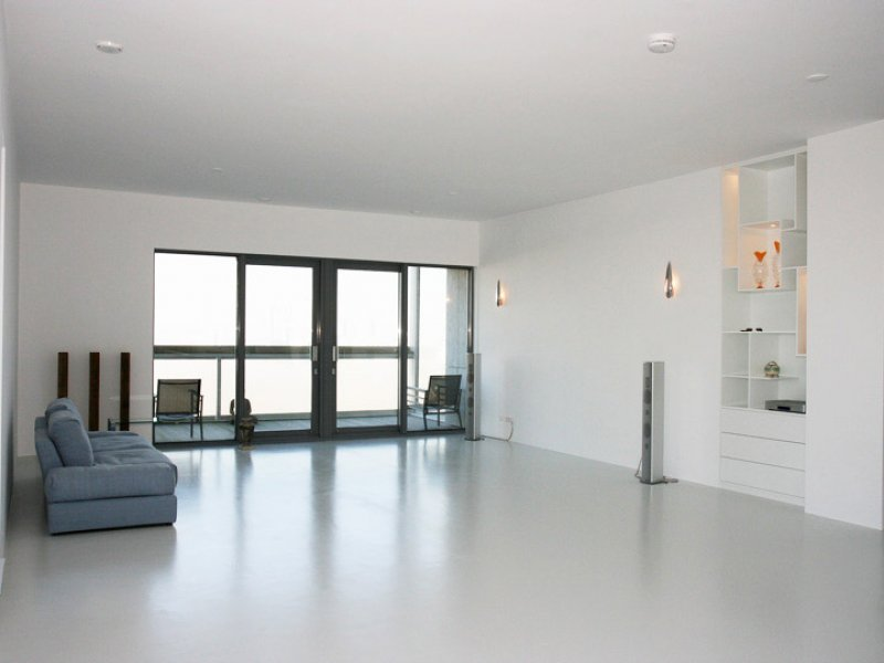 woonkamer in Rotterdam na latex spuiten