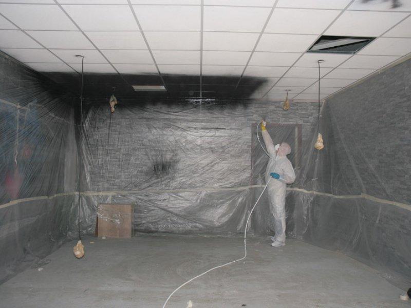 latex spuiter spuit systeemplafond in elke gewenste kleur