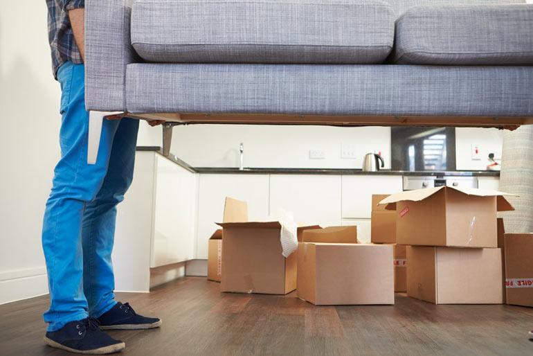 meubels uit de kamer verwijderen bij spackspuiten